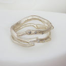 Silver And Diamond Wrap Around Ring