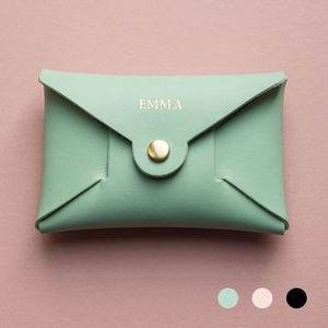 Personalised Coloured Leather Coin Purse