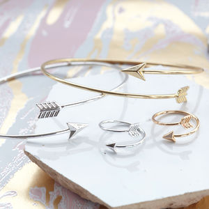 Arrow Bangle And Ring Jewellery Set