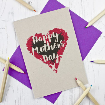 Heart Themed Mother's Day Card