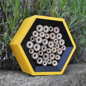 Handcrafted Bee House, Dual Colours - gifts for grandfathers