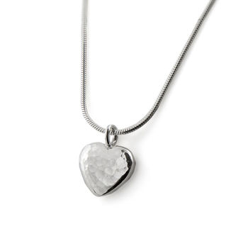 Ripple Pebble Heart Necklace