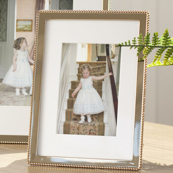 Gold Beaded Edge Photo Frame
