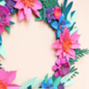 Jewel Tone Paper Flower Mini Wreath Craft Kit