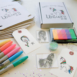 Unicorn Gift Box - christmas stamps