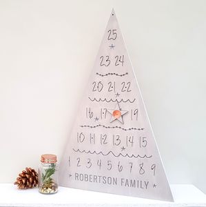 Personalised Engraved Advent Calendar Tree - advent calendars