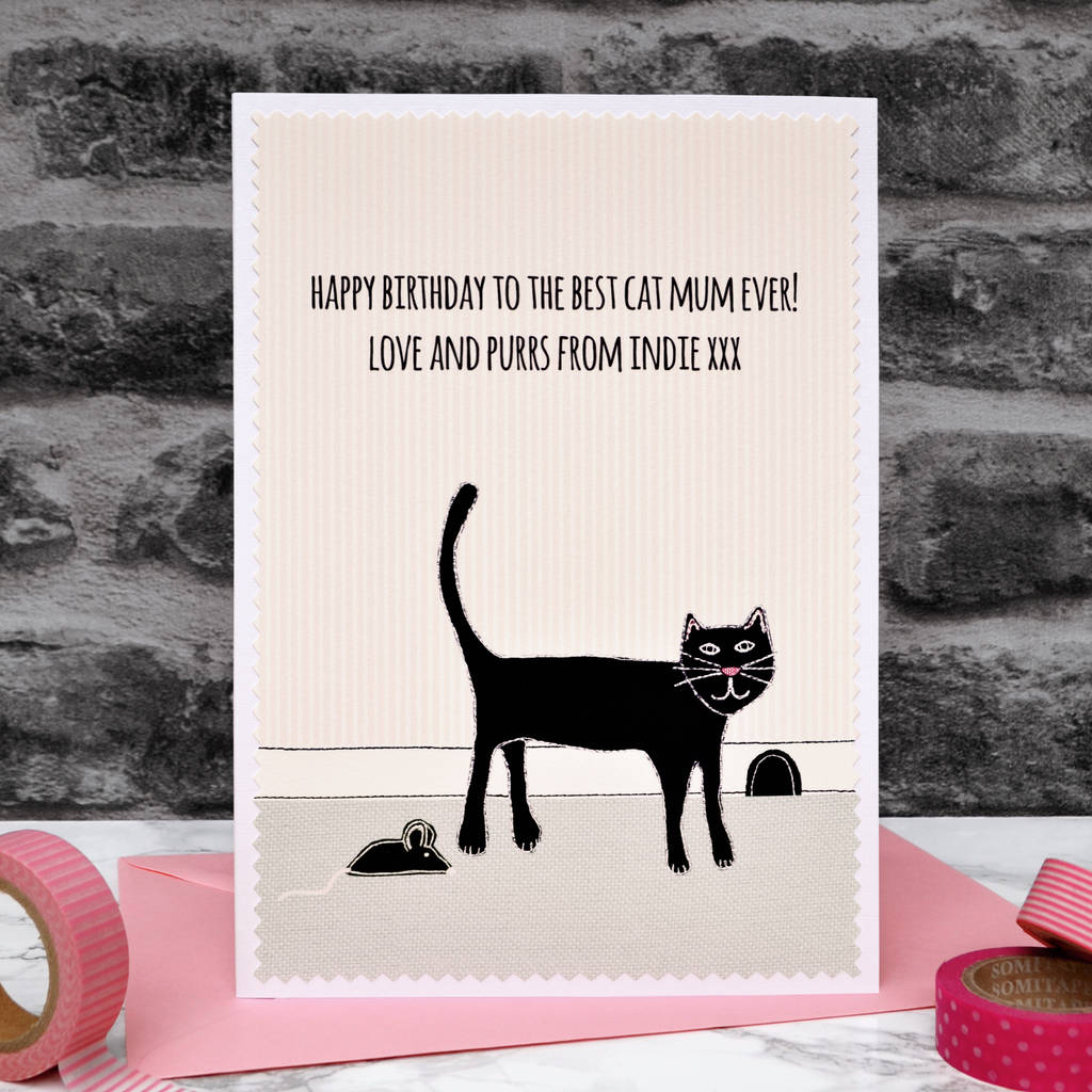 Personalised Birthday Card From The Cat By Jenny Arnott Cards