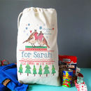 Personalised Christmas Eve Sack robin design