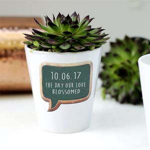 Personalised Best Day Ever Plant Pot - gardening