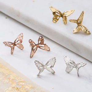 Small Butterfly Stud Earrings - earrings