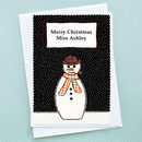 'Snowman' Christmas Card by Jenny Arnott Cards & Gifts