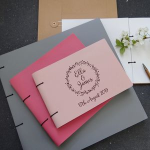 Natural Wreath Leather Guest Book Photo Album