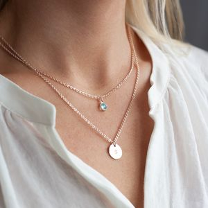 Personalised Ellyn Layered Necklace - bridesmaid jewellery