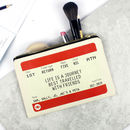 Personalised Friends Train Ticket Make Up Bag