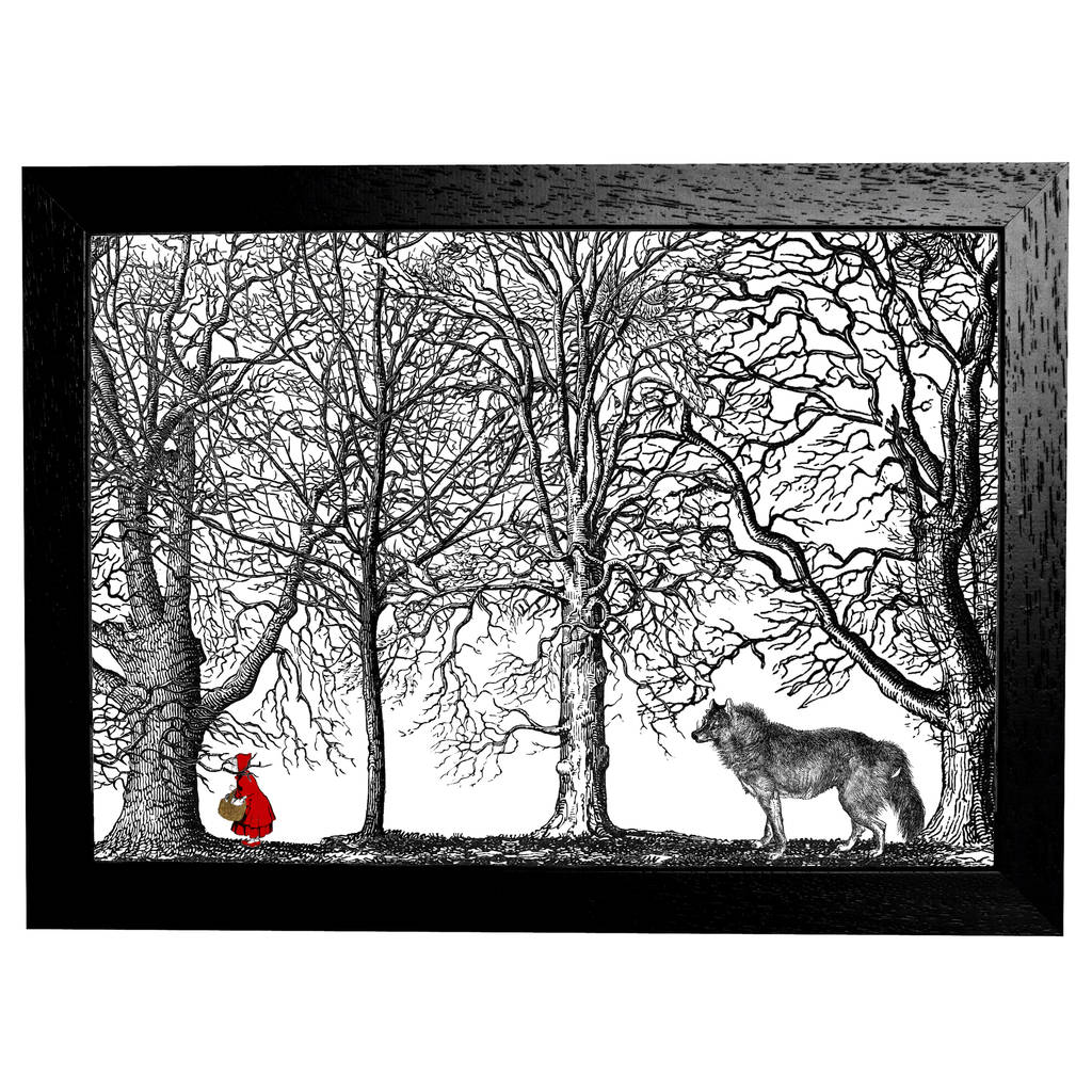 ce551eaae little red riding hood fairytale a4 print by mountain & molehill ...