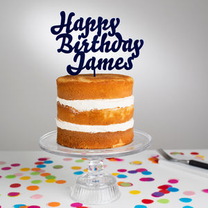 Personalised Happy Birthday Cake Topper - kitchen accessories