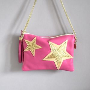 Stars Leather Bag - womens