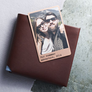 Personalised Solid Copper Wallet Photo Card - gifts for friends