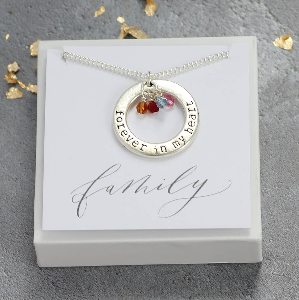 b213125acecd1 Forever In My Heart Family Birthstone Necklace