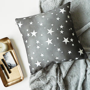 Star Print Cushion Cover - patterned cushions