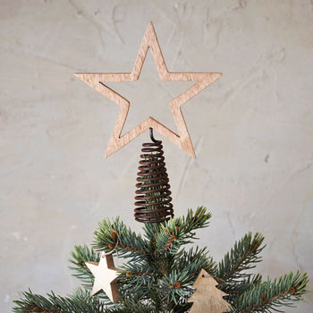 Wooden Star Tree Topper