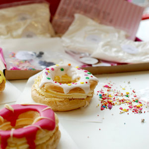 Make Your Own Donut Eclairs