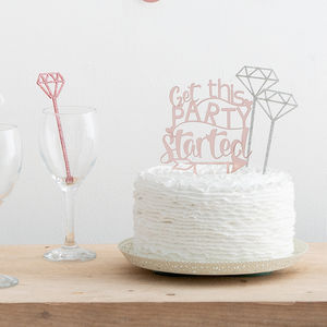 Get This Party Started Wedding Cake Topper Set - decoration