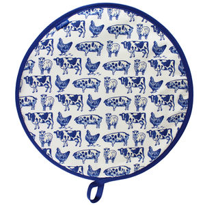 'Farm Animals' Hob Lid Cover - kitchen