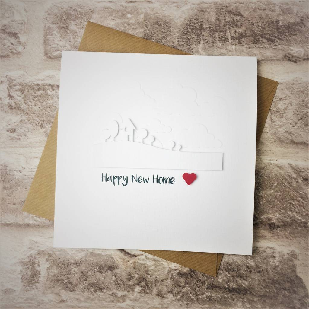 White 'Happy New Home' Card