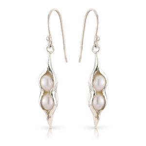 Silver Peapod Earrings