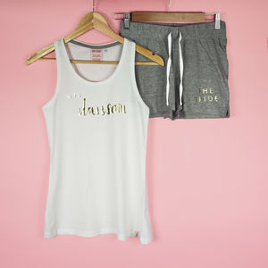 'Personalised Bride To Be' Pyjama Set - hen party ideas