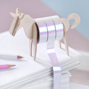 Unicorn Washi Tape And Dispenser - decorative tape & washi tape