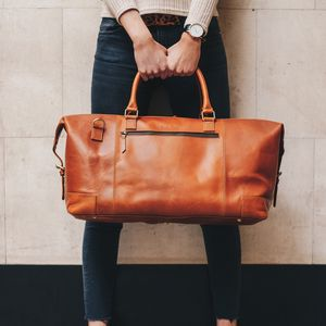 Leather Holdall Weekend Bag 'Aviator' - valentine's gifts for him