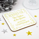 Personalised Father Of The Groom Wedding Coaster