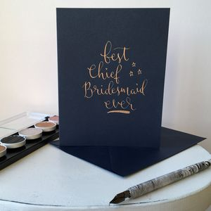 Best Chief Bridesmaid Ever Greeting Card