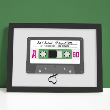 Personalised Wedding Cassette Song Print