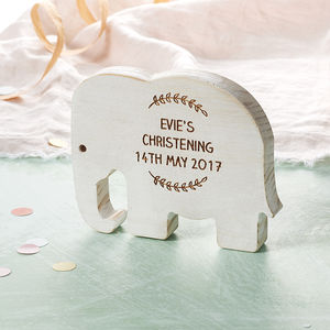 Personalised Baby's Christening Elephant - decorative accessories