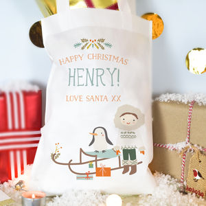 Personalised Boy's Christmas Bag