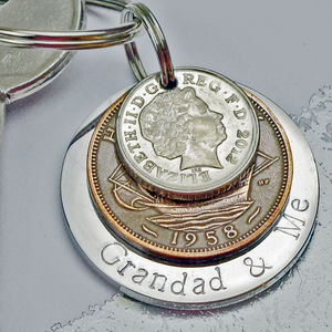 'Grandad And Me' Keyring - free delivery gifts to mainland UK