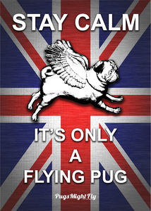 Union Jack Pug Poster - posters & prints