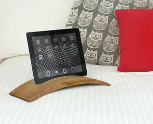 Solid Oak Lapp Stand For iPad And Tablet