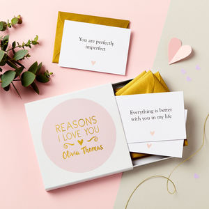 Personalised Foiled Reasons I Love You Notes - cards & wrap