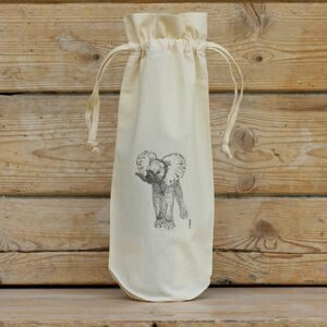 Elephant Cotton Bottle Bag