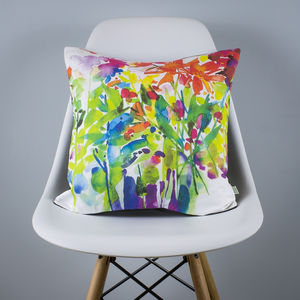Dahlia Watercolour Cushion