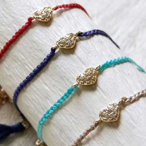 Love Heart Friendship Bracelet - bracelets & bangles
