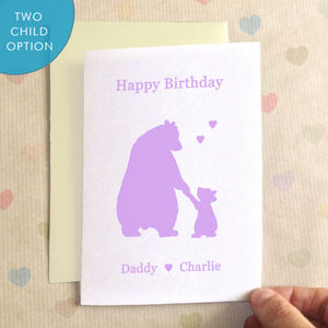 Personalisable Birthday Bears Birthday Card