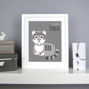 Personalised Tiger Nursery Print