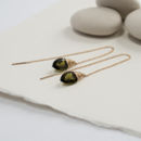Olive Quartz Ear Threads