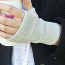 Personalised Knitted Wrist Warmers