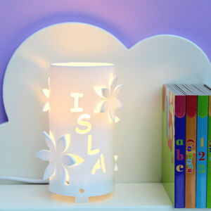 Personalised Flower Night Light Ideal New Baby Gift